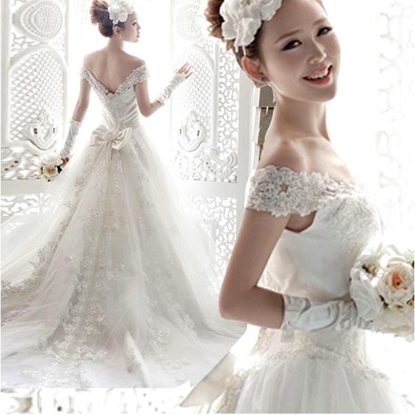 Off the Shoulder Lace Mermaid Wedding Dresses
