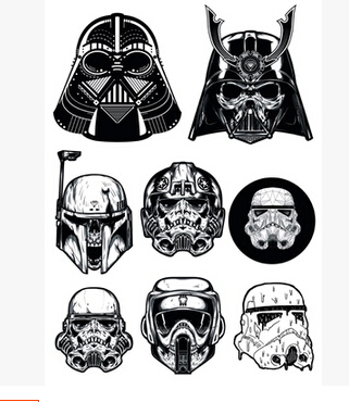 Full-page version of Star Wars zombie zombie Star Wars notebook stickers suitcase stickers