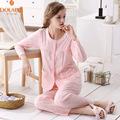 2016 Spring Autumn New Brand Girls Sleepwear 2PC Cotton O Neck Lounge Long Pajama Sets Fashion