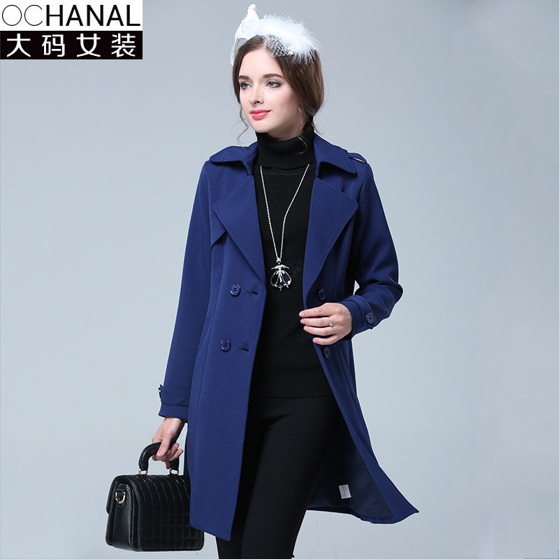 European Women Jakcet 2015 Winter New Double-Breasted Coat Thicker Jacket Lapel Pocket Solid Color Large Size Jacket WomenОдежда и ак�е��уары<br><br><br>Aliexpress