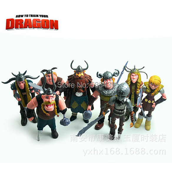 2014 hot ! NEW 8PCS/set 10-13cm Train Dragon 2 figurines PVC Action Figures toys Christmas gift toy - Shenzhen China Good Service Best Price store