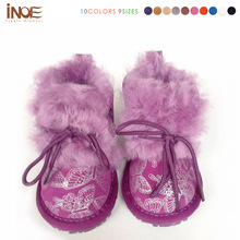 2015 Nature sheepskin leather First walkers for baby toddlers children winter shoes for cheeper boots infants free shipping(China (Mainland))