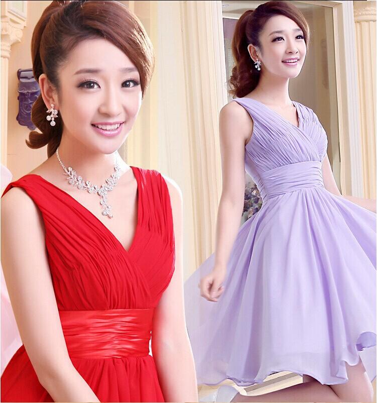 Платье для подружки невесты 2015 V