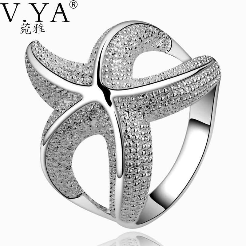 Silver-plated Ring wedding new Fashion star Silver Rings Women plated Jewelry PCR538 - VYA Official Store store