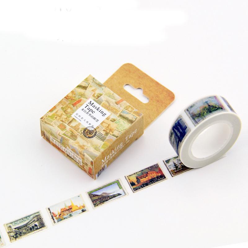 Buy vintage stamp washi tape diy decoration for sc - Decoration masking tape ...