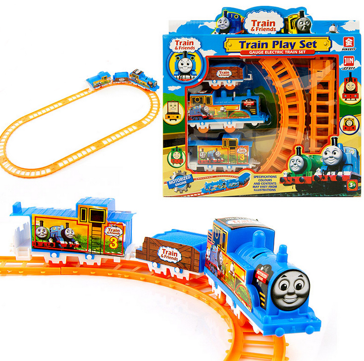 Free Shipping Thomas the Train Friends Motorized Battery Train Track Orbital Electric Train Rail Car Baby Children Toy Gift(China (Mainland))