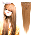 Clip In Human Hair Extensions Straight Peruvian Remy Human Hair Clip Ins 27 Light Color Remy