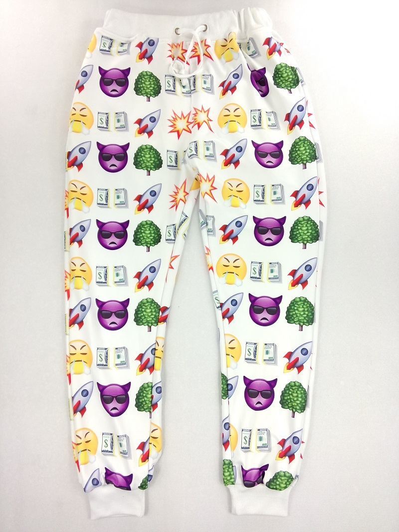 2015 Fashion Brand Printed Sport Femme Wide Leg Women Ladies Baggy Pants Emoji Joggers Trousers Sweatpants Hip Hop - Outdoor Co.,Ltd store