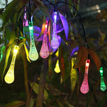 4.8M 20LEDs Solar String Lights Colorful Raindrop Waterproof Christmas Holiday Lighting Outdoor Garden Decoration Fairy Lamps - Shenzhen Raysflt Technology Co.,Ltd store
