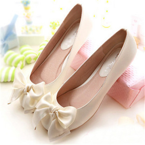 2015 Womens Soft Feel Ballet Flats Shoes Girls Faux Patent Leather Cute Bowtie Loafers 5 Colors Slip On Shoes(China (Mainland))