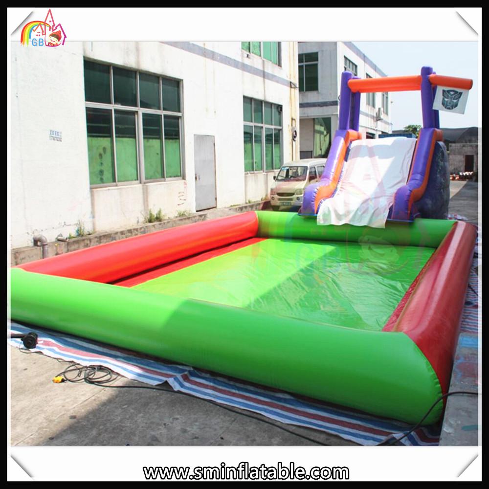 Tarpaulin Summer Hot Sale Lagre Inflatable Water Slide Swimming Pool Tube Slide Water