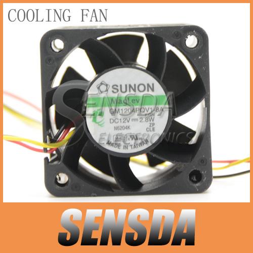 Free Shipping Wholesale Sunon Maglev GM1204PQV1-8A 40x28 mm 4028 4cm 40mm 3pin Sensor Hi Speed Case Server Fan(China (Mainland))