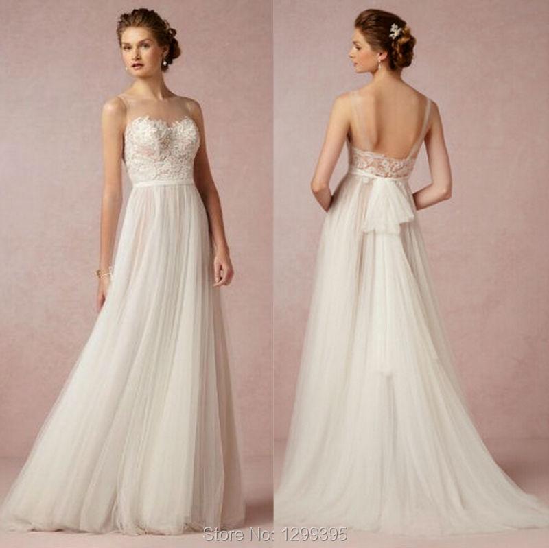 Summer Elegant Vintage Abiti Da Sposa Simple Wedding Dress