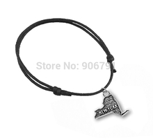 wax string with power New York map charm(China (Mainland))
