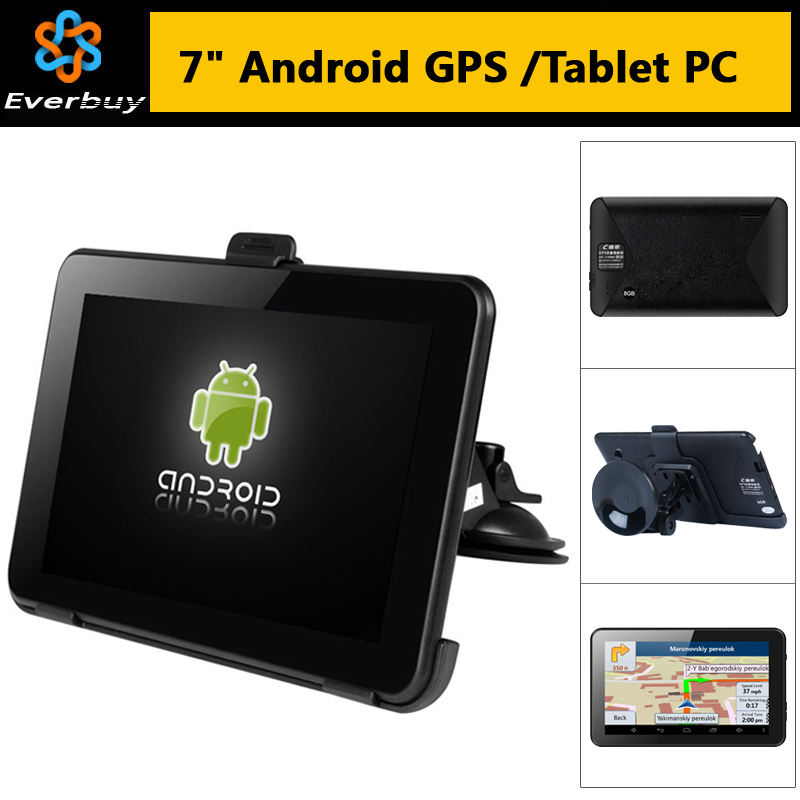 7 Inch HD Car GPS Navigation Android 4.4 Allwinner A23 WIFI 8GB car gps Navitel 9.5 2015 Maps Russia Ukraine Belarus Kazakhstan(China (Mainland))