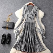 hot sale free shipping dresses winter 2017 NEW knitting Clothing Fashio Women spring dress Casual sweater Ladies autumn Dress(China)