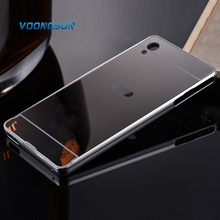 Buy VOONGSON Sony Xperia M4 Aqua / M4Aqua Dual Luxury Armor Gold Aluminum Frame + Mirror Acrylic Back Cover Case Plating M 4 for $3.32 in AliExpress store