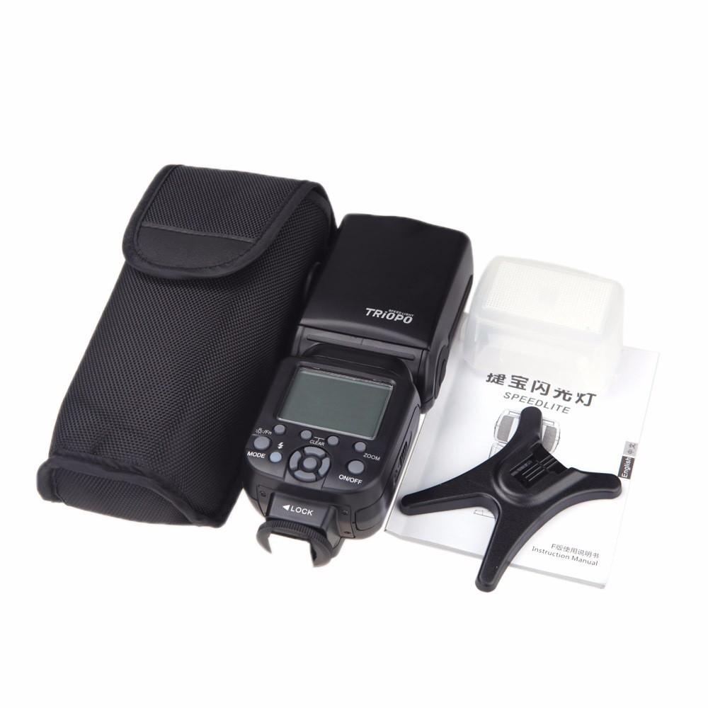 ถูก T RIOPO TR-586EXไร้สายแฟลชTTLสำหรับกล้องNikon D750 D800 D7100 D7000เป็นYONGNUO YN-568EX Wtฟรีd iffuser