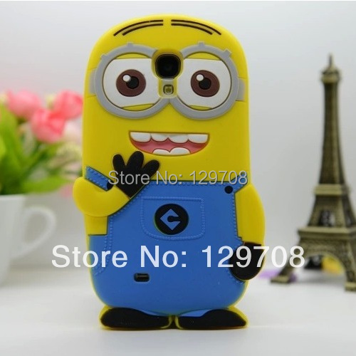 Samsung Galaxy S4 mini 3D Cute Despicable Minion Soft Rubber Silicone Cases Back Cover i9190 case - Huaqiang On Line store