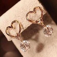 Корейские ювелирные изделия, циркониевые жемчужные серьги-гвоздики в форме сердца с кристаллами в виде цветов, крыльев Ангела, геометричес...(China)