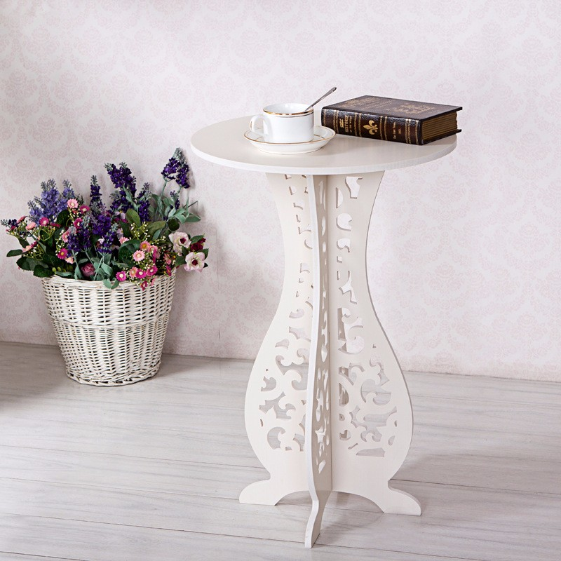 Country Style Living Room Tea Table concise easy clean coffee table Wood plastic board small Round Table(China (Mainland))