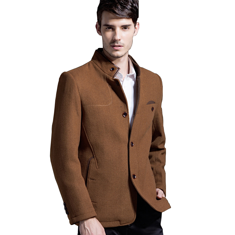 Winter Wool Coats Mens Jackets And Coats Warm Overcoats Windproof Slim Men Coats Casual Brand Outdoor Clothing Plus Size DY001(China (Mainland))