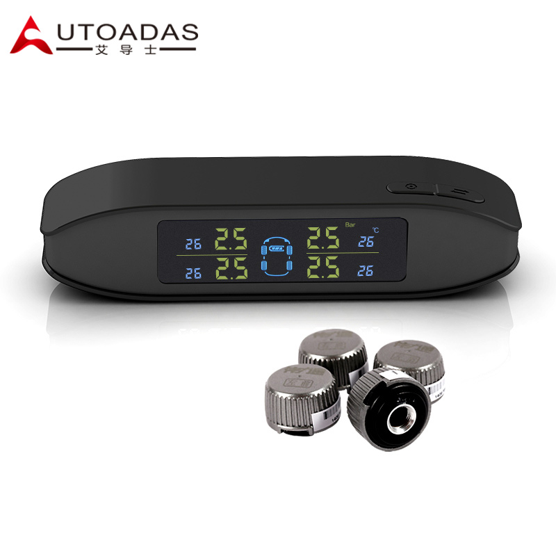 Tyre pressure monitoring system with 4 external sensors bar display 3 colors built-in battery for lcd TPMS diagnostic tool(China (Mainland))