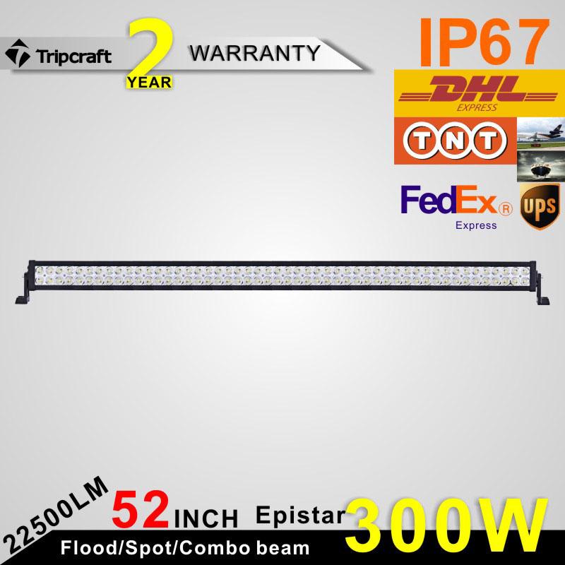 Factory Price cheap 52 inch LED Light Bar 300W led work light bar(China (Mainland))
