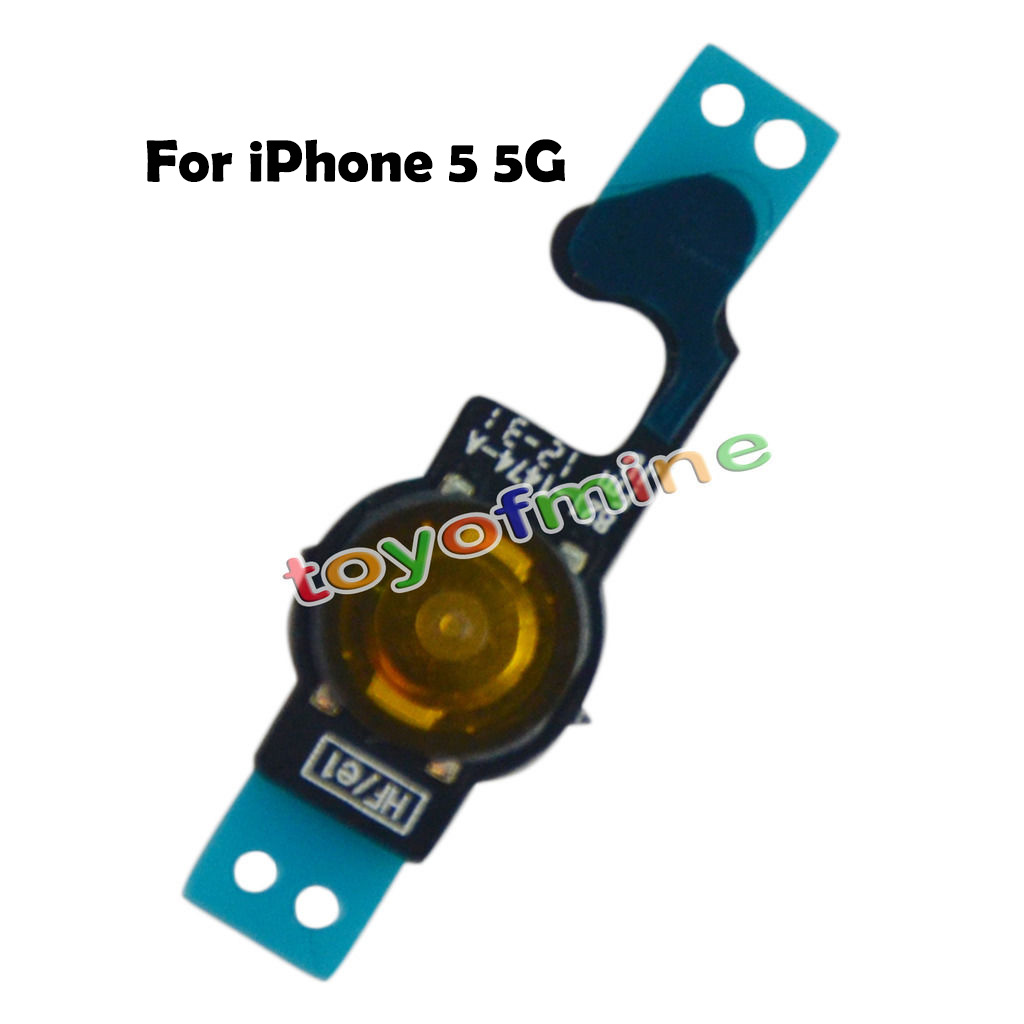 New Repair Parts Replacement Home Button Back Menu Keypad Key Flex Cable Ribbon for iPhone 5 5G Free Shipping(China (Mainland))