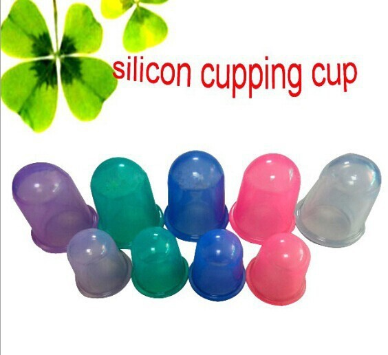 1000Pcs/lot Health care small body cups anti cellulite vacuum silicone massage cupping cups 5.5cm * 5.5cm(China (Mainland))