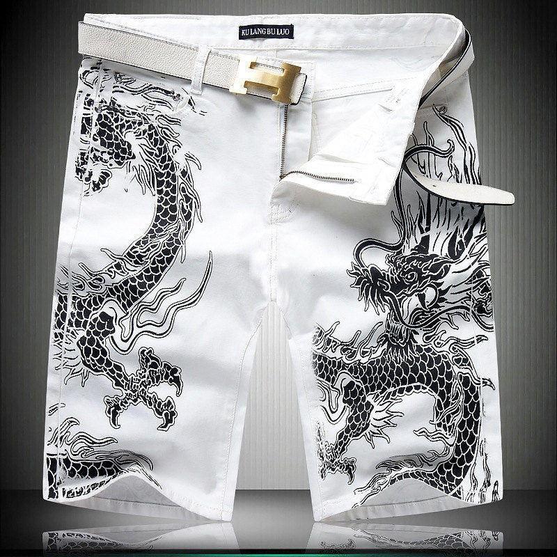 Скидки на Персонализированные завод шаблон печати камуфляж колен джинсы Лето новое прибытие мода повседневная прямые джинсы мужские