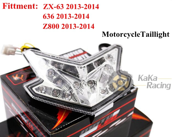 High Quality Motorcycle Integrated LED Rear Tail Light Turn Signal Lamp For ka wa sa ki ZX-6R/636/Z800 2013 2014(China (Mainland))