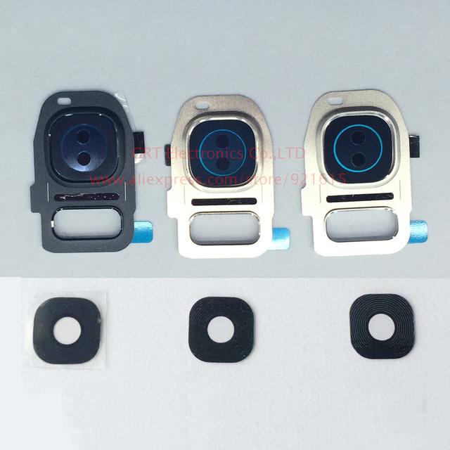 10 ШТ. Новый Оригинальный Задний Задняя Камера Стекла Крышка Объектива с Рамкой держатель для Samsung Galaxy S7 G930A G930F S7 Edge G935 Бесплатная корабль