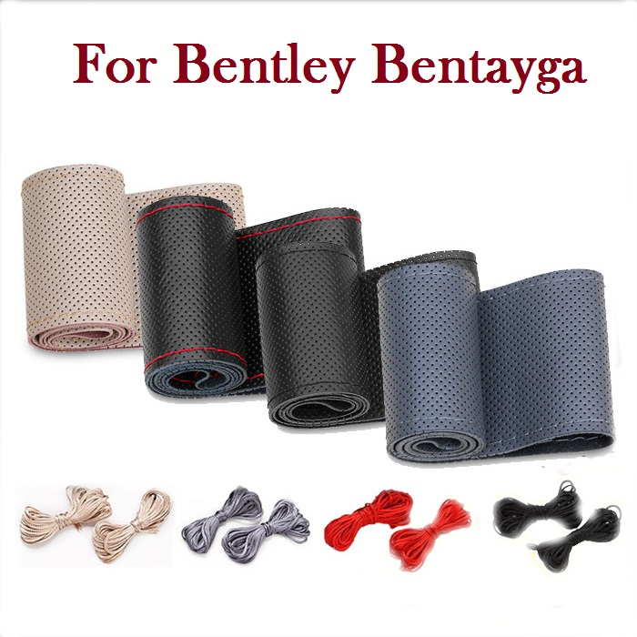 New Universal New PU Car Steering Wheel Leather Cover With Needles and Thread for Bentley Bentayga(China (Mainland))