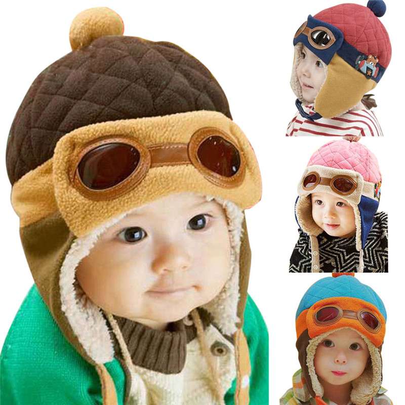 Toddlers Cool Baby Boy Girl Infant Winter Pilot Warm Cap Hat Beanie(China (Mainland))