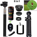Universal Clip 8X Zoom Telephoto Lens HD Mobile Phone Camera Lenses For iphone 5s Samsung S5 S6 S7 S6 edge S7 edge Xiaomi Huawei