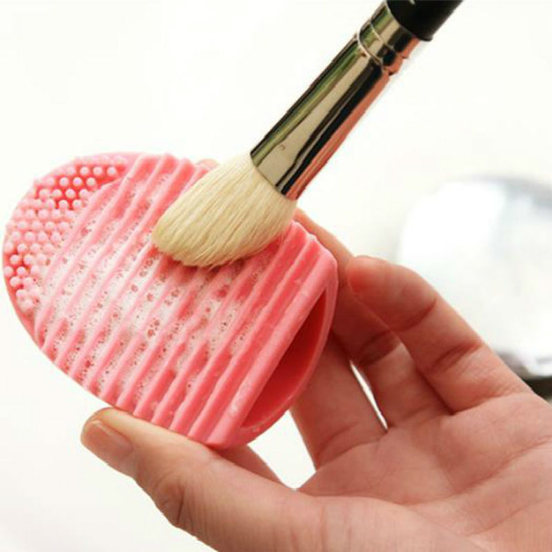 Brushegg Silicone Brush Cleaning Egg Brush Egg Cosmetic Brush Cleanser Make up Brush Cleaner Clean Tools for Makeup(China (Mainland))