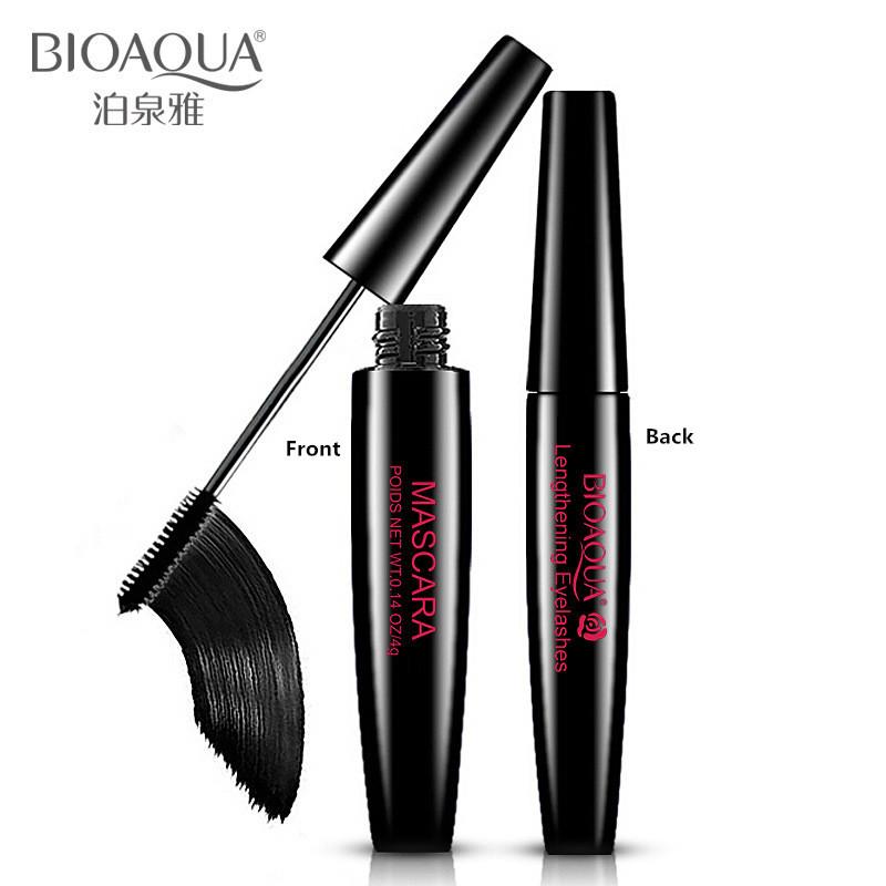BIOAQUA Thick Curling Lengthening Mascara Women Brand Makeup Waterproof Rimmel Mascara Cream Eyelashes Deeper(China (Mainland))