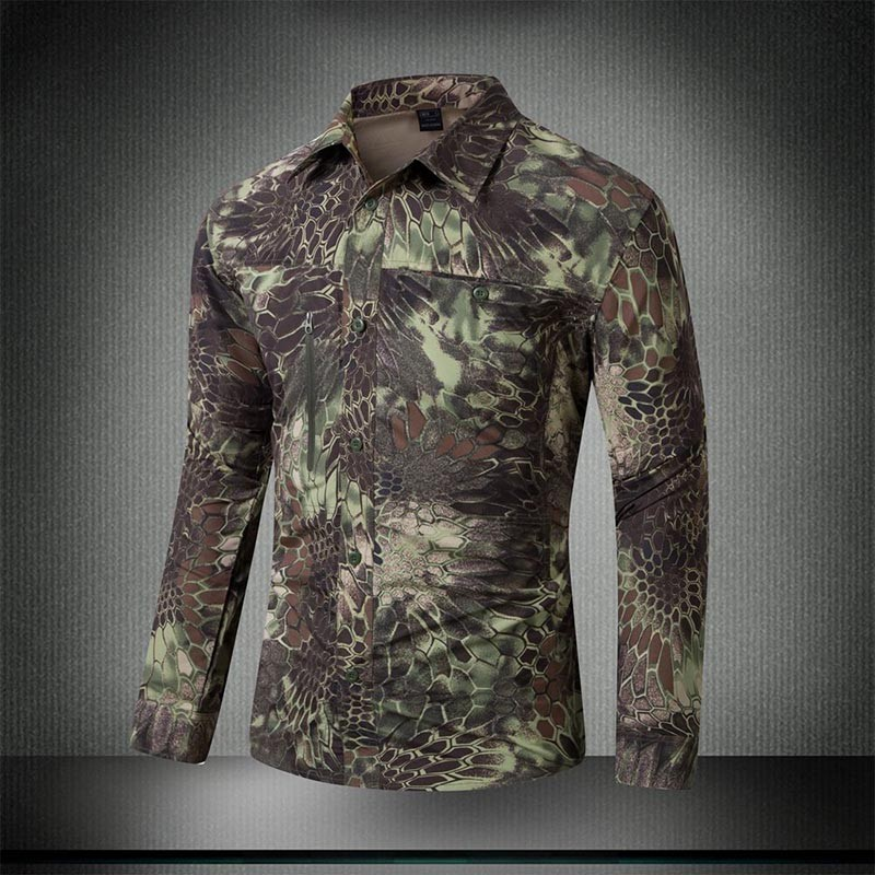 Buy military style tactical shirt for Mens military style long sleeve shirts