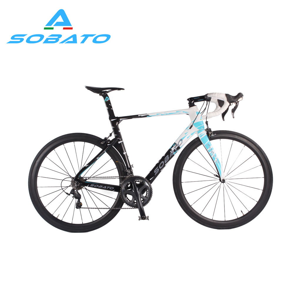 Whosale DIY carbon complete road bicycle with carbon road bike frame RAA carbon Road Bike SOBATO BikeS Shiman0 22 Speed 700c
