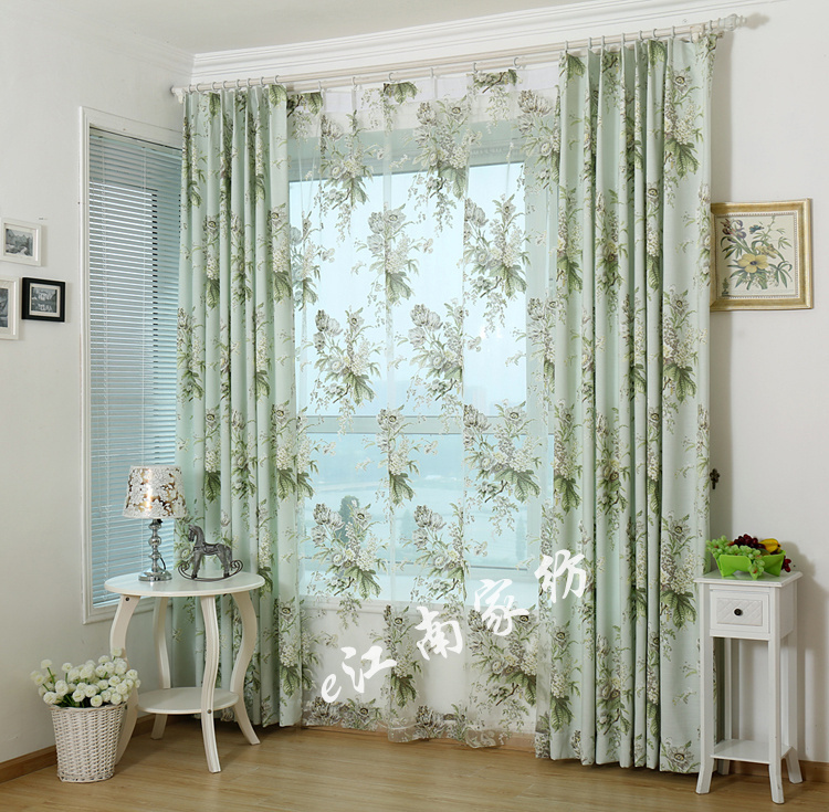 American Country Style Living Room Bedroom Linen Cotton Curtain Cloth Product Customization