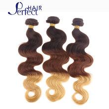 Ombre 3 Tone Peruvian Hair 6A Grade Peruvian Virgin Hair Body Wave Hair 1B 33 27 Ombre Hair Extensions 3 Bundles Body Wave