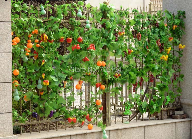 2017 wholesale fashion artificial fruit vegetable green for Hanging vegetable garden ideas