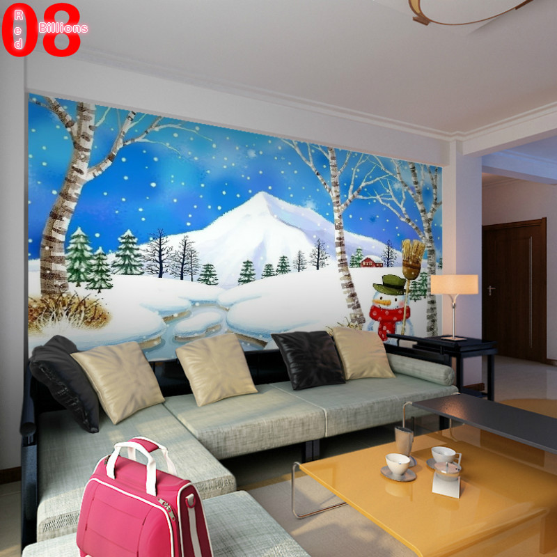 Custom any size cartoon wallpaper 3d wall murals for Custom size wall mural