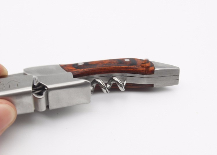 Buy New High Quality Multi-function Folding Wine Opener/Wood handle Crokscrew Waiters Bottle Wine Opener w/ Giftbox /Folding knife cheap