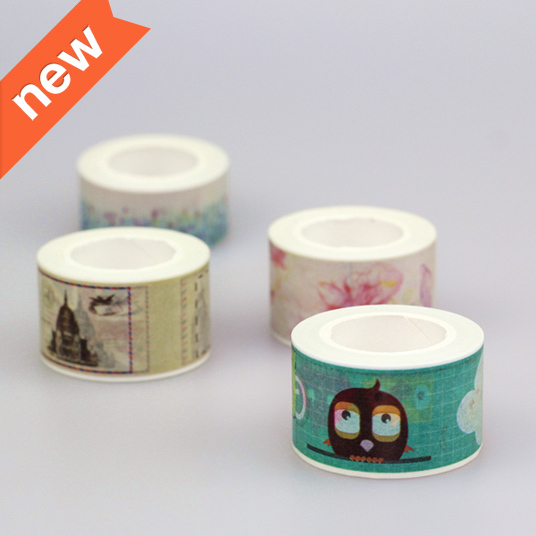 4 Pieces / Lot 25mm*10m Factory Suppliers For Decorative Tape Adhesive Tape Washi Tapes Stickers Masking Tape Stationery School(China (Mainland))
