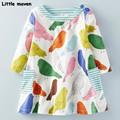 Little maven kids brand clothes 2016 new autumn baby girls clothes Cotton bird printing girl A