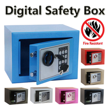 Digital safe box Fire Proof Ideal to Guard Valuables Secret At Home while Travel Storage Jewellery Gold caja fuerte coffre fort(China (Mainland))