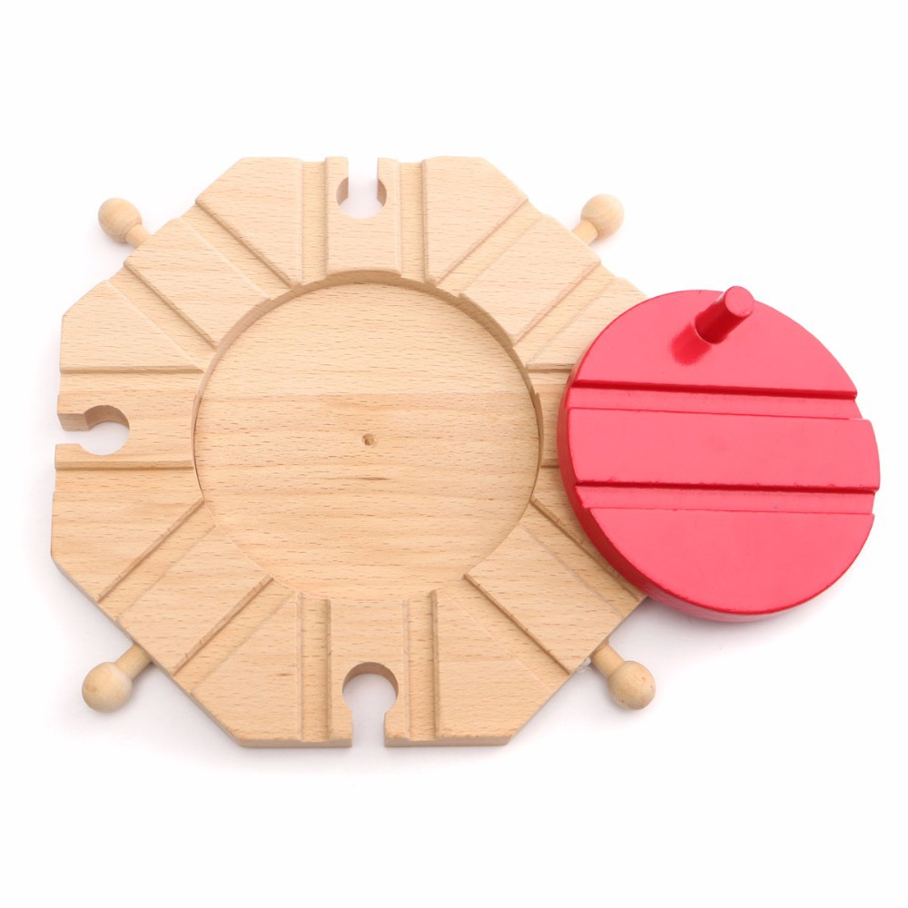 New Wooden train Switch Track set Circular Turntable Educational Toys Boy/Kids Toy fit Thomas and Brio(China (Mainland))