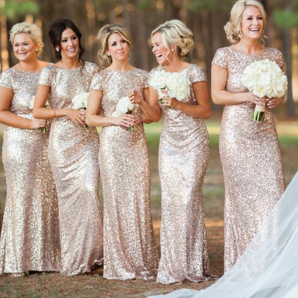 Long Dresses For Weddings Cheap 21 Marvelous Cheap champagne gold bridesmaid